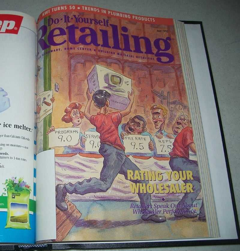 Do-It-Yourself Retailing Magazine (DIY): Serving Hardware, Home Center and Building Material Retailers, Volume 168, January-June 1995 bound together, N/A