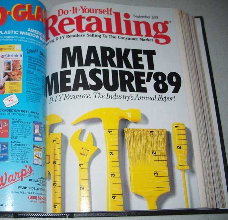 Do-It-Yourself Retailing Magazine (DIY): Serving Hardware, Home Center and Building Material Retailers, Volume 155, July-December 1988 bound together, N/A