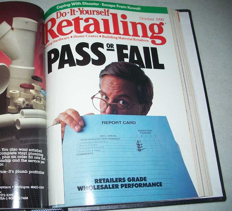 Do-It-Yourself Retailing Magazine (DIY): Serving Hardware, Home Center and Building Material Retailers, Volume 159, July-December 1990 bound together, N/A