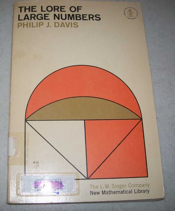 The Lore of Large Numbers (New Mathematical Library #6), Davis, Philip J.