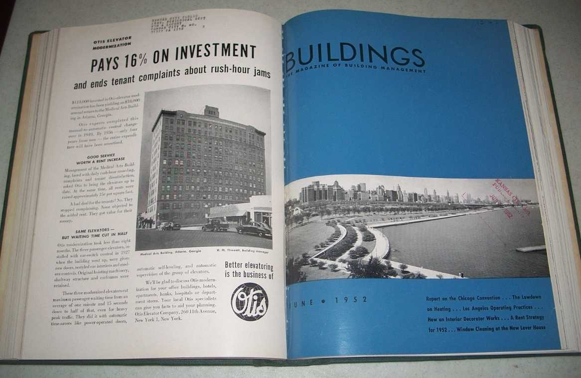 Buildings: The Magazine of Building Management Volume 52, January-December 1952 Bound together, N/A