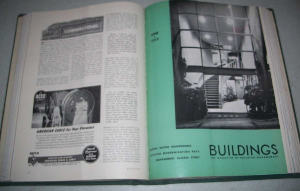 Buildings: The Magazine of Building Management Volume 53, January-December 1953 Bound together, N/A