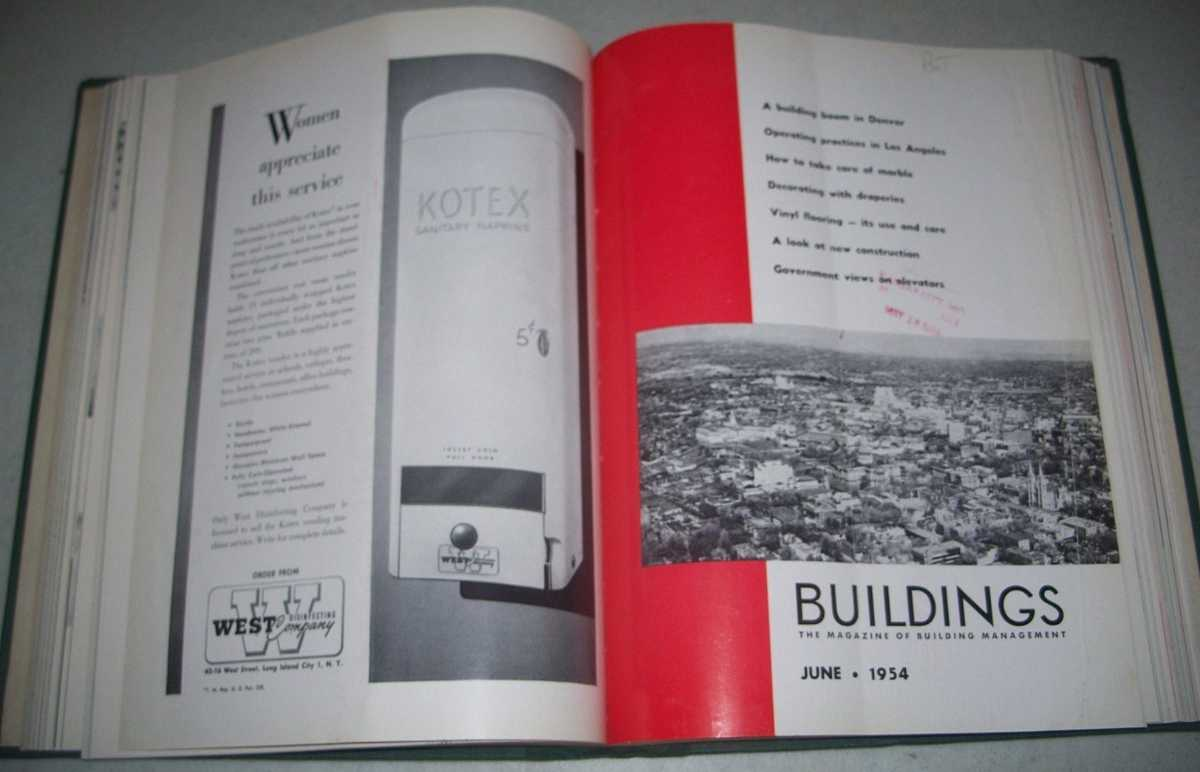 Buildings: The Magazine of Building Management Volume 54, January-December 1954 Bound together, N/A
