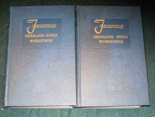 Groot Nederlads-Engels Woordenboek (2 volume set), Jansonius, H.