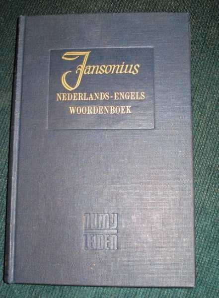 Groot Nederlads-Engels Woordenboek - Supplement, Jansonius, H.