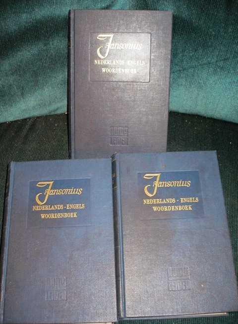 Groot Nederlads-Engels Woordenboek (3 volume set), Jansonius, H.