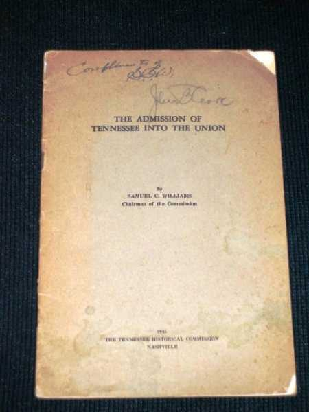 Admission of Tennessee Into the Union, Williams, Samuel C.