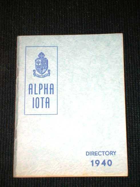 Alpha Iota Directory, Alpha Iota International Honorary Business Sorority
