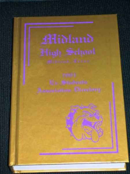 Midland (TX) High School Ex-Students' (Alumni) Association Directory:  2001, Various / Unstated
