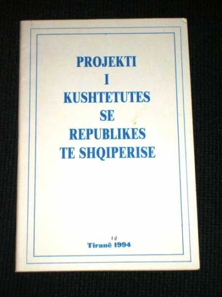 Projekti I Kushtetutes Se Republikes Te Shqiperise (Projected Constitution of Albania), Various / Unstated