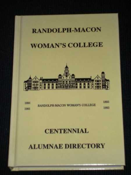 Randolph-Macon Woman's College Alumnae (Alumni) Directory - 1992, Various / Unstated