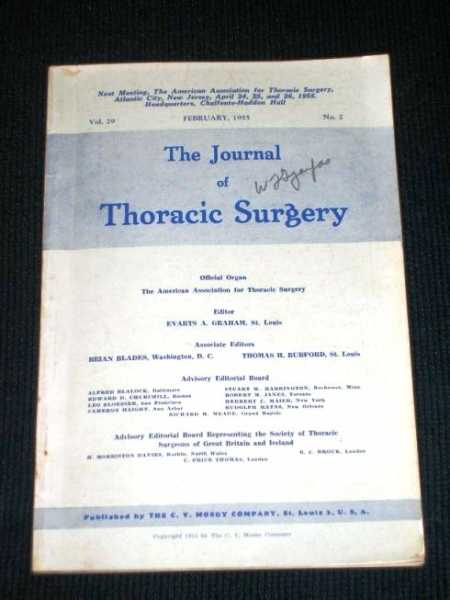 Journal of Thoracic Surgery, The (Vol. 29 - February, 1955), Graham, Evarts A. (Editor)