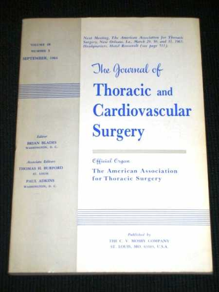 Journal of Thoracic and Cardiovascular Surgery, The:  Volume 48, Number 3, September, 1964, Blades, Brian (Editor)