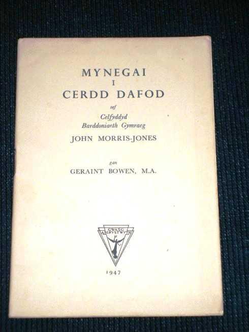 Mynegai I Cerdd Dafod Sef Celfyddyd Barddoniaeth Gymraeg, Morris-Jones, John