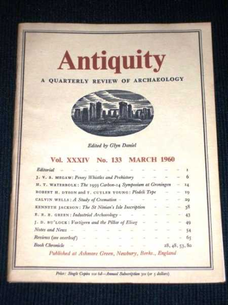 Antiquity - A Quarterly Review of Archaeology - March 1960, Daniel, Glyn (Editor)