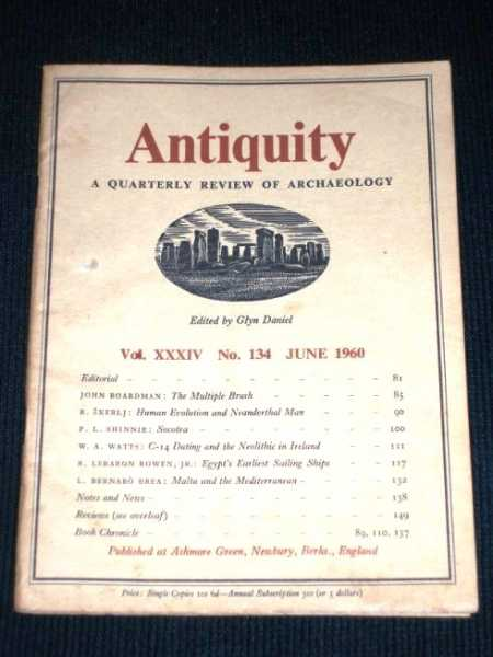 Antiquity - A Quarterly Review of Archaeology - June 1960, Daniel, Glyn (Editor)