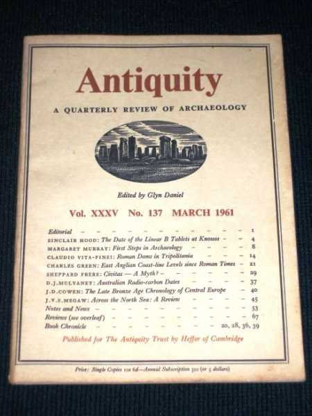 Antiquity - A Quarterly Review of Archaeology - March 1961, Daniel, Glyn (Editor)