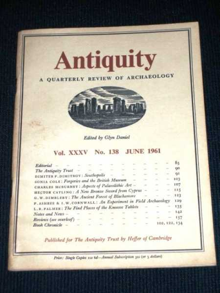 Antiquity - A Quarterly Review of Archaeology - June 1961, Daniel, Glyn (Editor)
