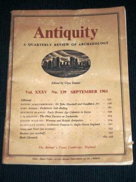 Antiquity - A Quarterly Review of Archaeology - September 1961, Daniel, Glyn (Editor)