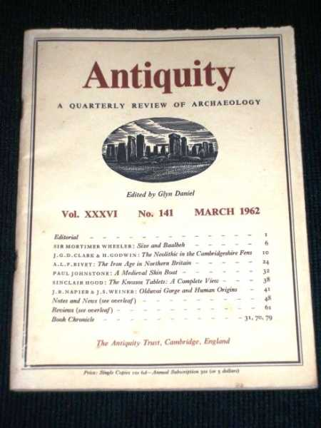 Antiquity - A Quarterly Review of Archaeology - March 1962, Daniel, Glyn (Editor)