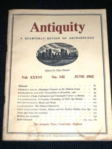 Antiquity - A Quarterly Review of Archaeology - June 1962, Daniel, Glyn (Editor)