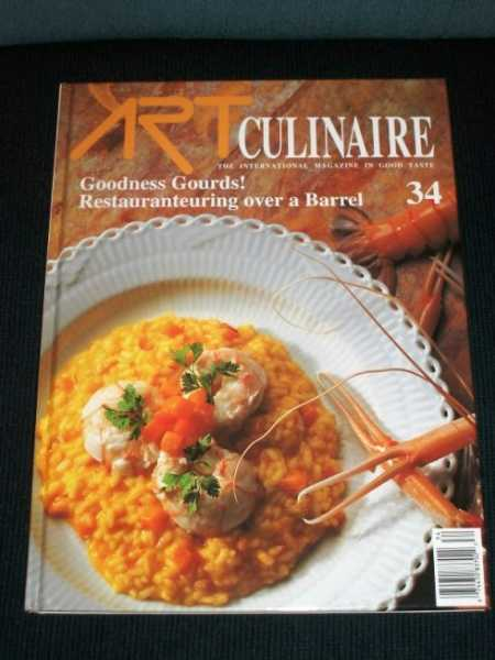 Art Culinaire 34 - The International Magazine in Good Taste - Fall, 1994, N/A