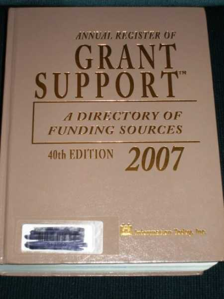 Annual Register of Grant Support 2007:  A Directory of Funding Sources, N/A