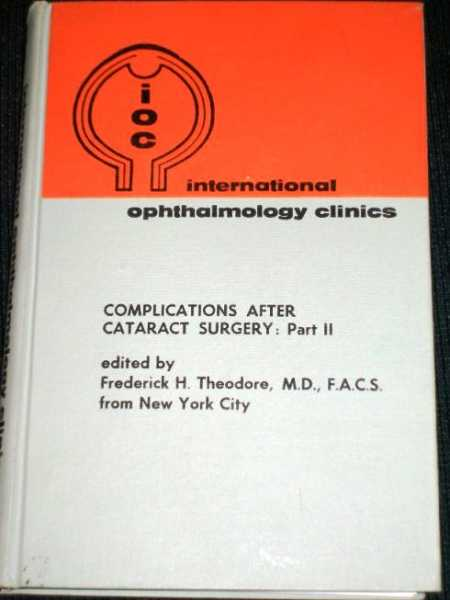 Complications After Cataract Surgery:  Part 2, Theodore, Frederick H.