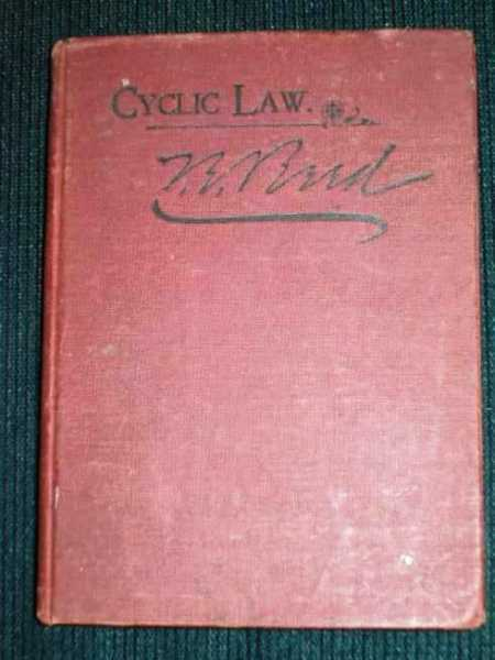 Cyclic Law...Its influence over Man in both Health and Disease, Determining the Sex, Its Influence Upon Births, Deaths, etc., Reed, Thomas E.