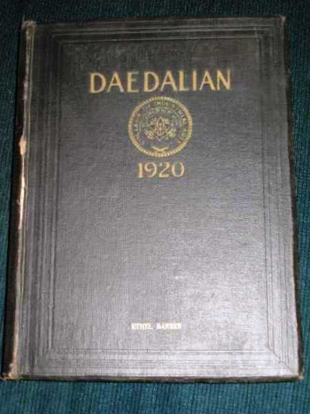 Daedalian 1920 Yearbook - Vol XI - College of Industrial Arts, Denton, TX, N/A