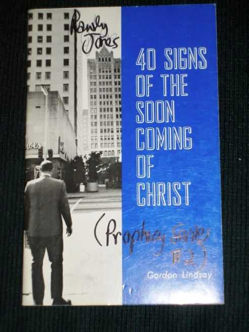 40 Signs of the Soon Coming of Christ, Lindsay, Gordon