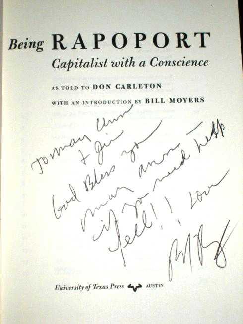Being Rapoport: Capitalist with a Conscience, Rapoport, Bernard