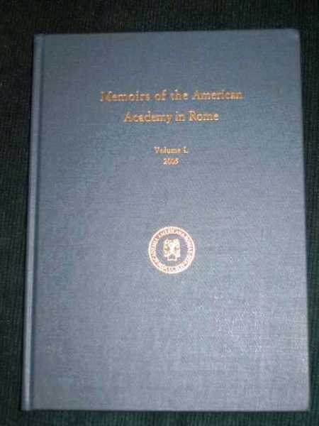 Memoirs of the American Academy in Rome (Volume L), Various
