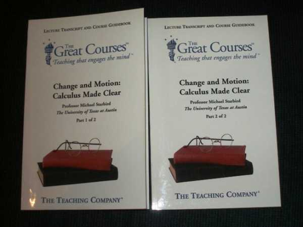 Change and Motion: Calculus Made Clear (2 Vol. Set) - (The Great Courses: Teaching that Engages the Mind), Starbird, Michael