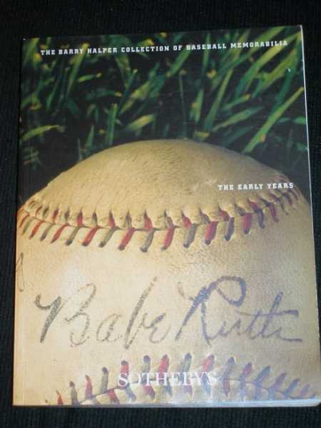 Barry Halper Collection of Baseball Memorabilia: The Early Years, No Author Stated