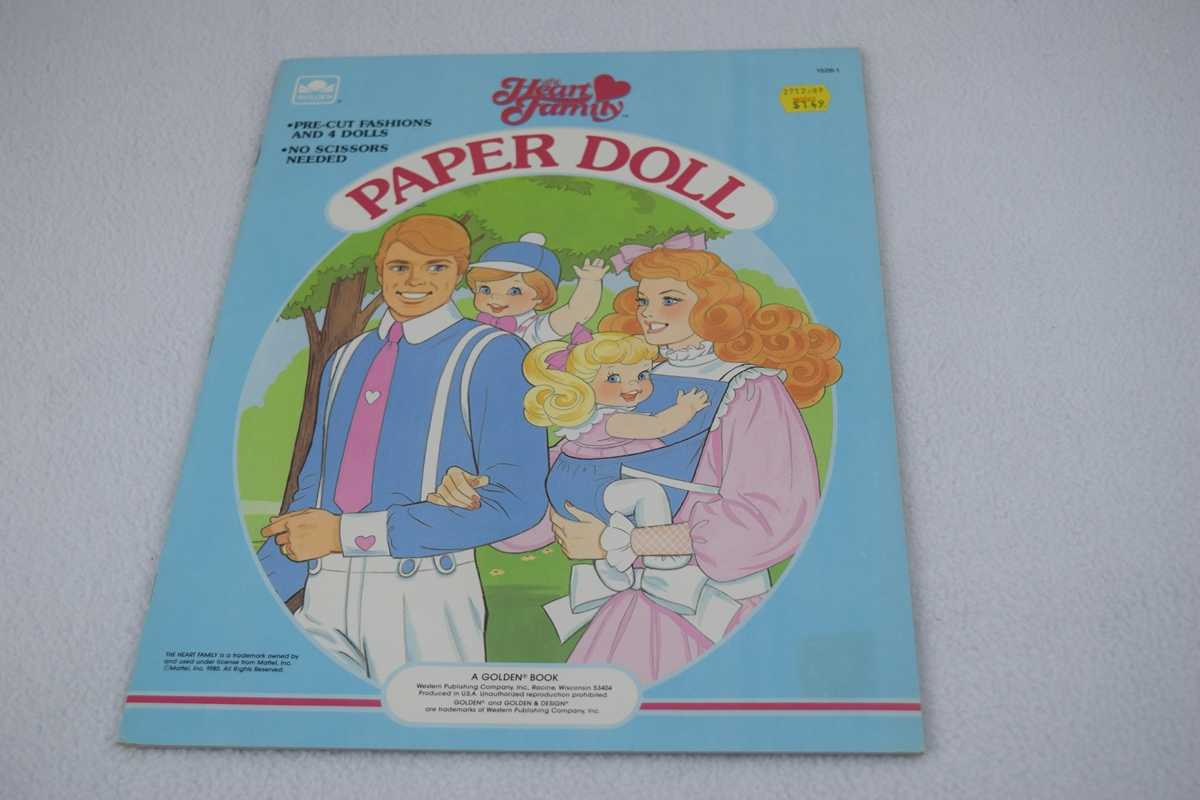Image for Heart Family Paper Doll (A Golden Book) - Uncut (#1526-1)