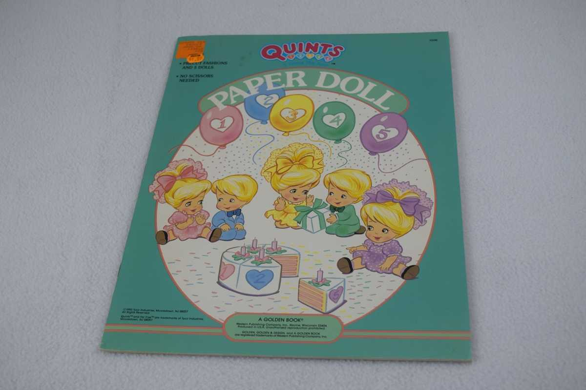 Image for Quints Paper Doll (A Golden Book) - Uncut (#1506)