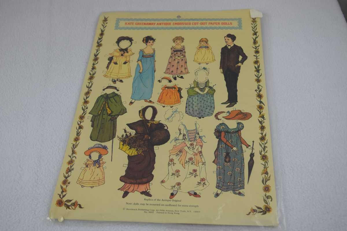 Image for Kate Greenway Antique Embossed Cut-out Paper Dolls - Uncut