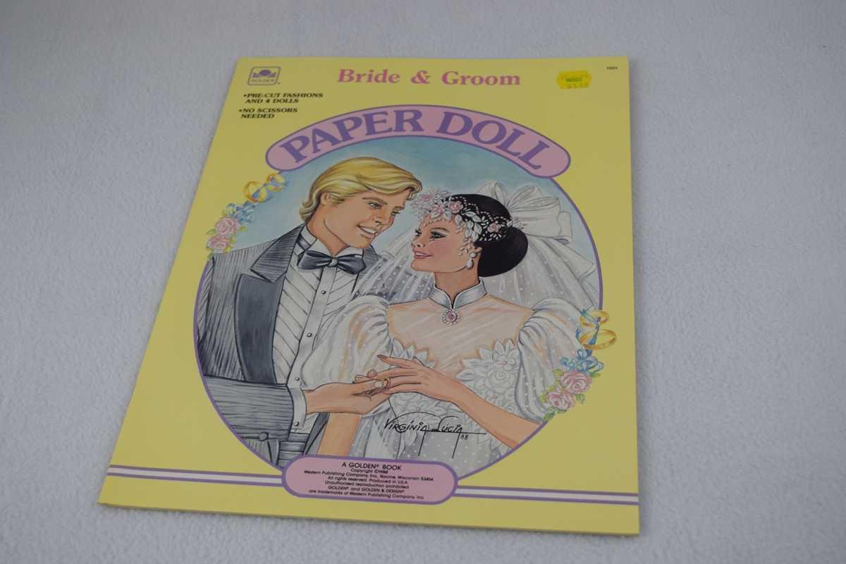 Image for Bride & Groom Paper Doll - Uncut (#1501 - Golden Book)