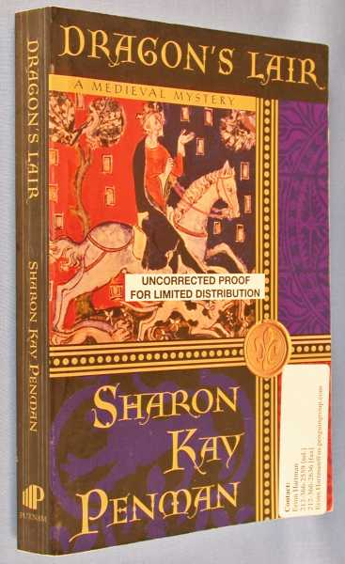 Dragon's Lair: A Medieval Mystery, Penman, Sharon Kay