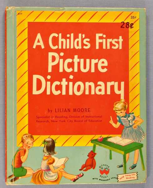 A Child's First Picture Dictionary, Moore, Lilian