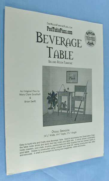 Beverage Table (Billiard Room Furniture), Southall, Mary Clare; and Brian Swift