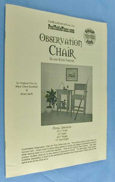 Observation Chair ( Billiard Room Furniture), Southall, Mary Clare; and Brian Swift