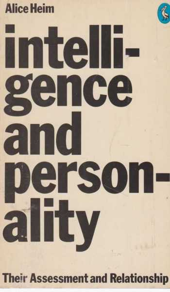Intelligence and Personality, Alice Heim