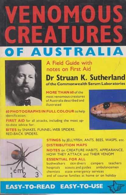 Image for Venomous Creatures of Australia - A Field Guide with Notes on First Aid
