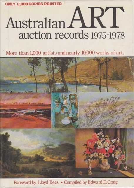 Australian Art Auction Records 1975-1978, Edward D. Craig