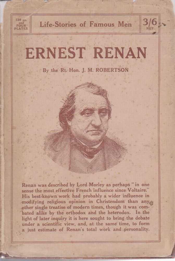 Ernest Renan, Rt Hon J.M. Robrtson