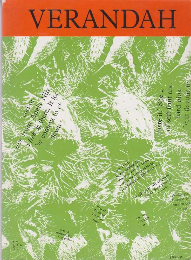 Verandah Volume 8, Narelle Coulter, Claire Konkes, Christopher McAsey, Georgina Roussis, Jusy Smallman, Annunziata Zoiti-Licastro [Editors]