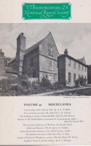 Samuel Whitbread's Notebooks Volume 49 Miscellanea[The Publications of the Bedfordshire Historical Record Society Volume XLIX], Samuel Whitbread [Edited by Alan F. Cricket]