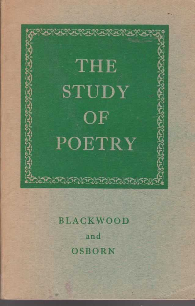 The Study of Poetry, R. L. Blackwood and A. R. Osborn